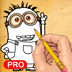 How to Draw: Despicable Me 2 edition Minions PRO for iPad